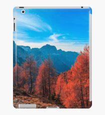 Cloudy autumn day in the italian alps iPad Case/Skin