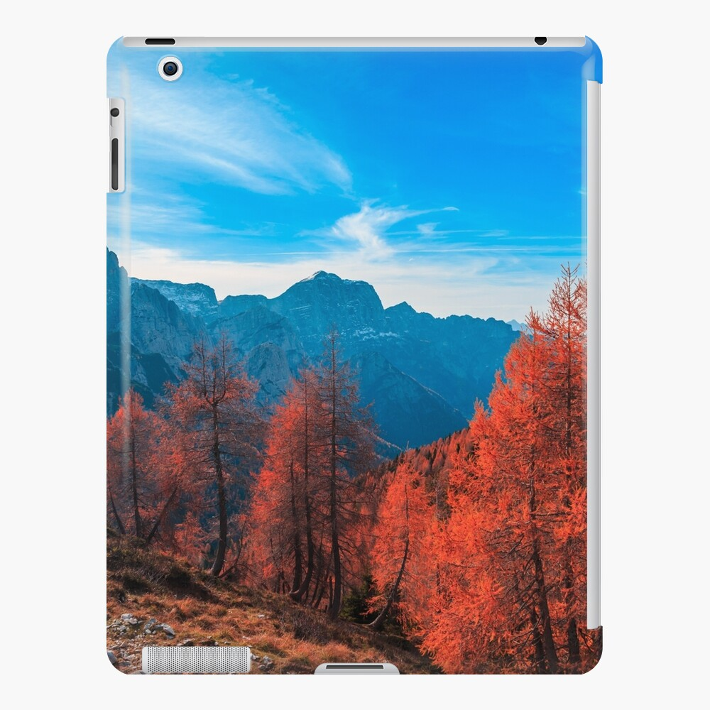 Cloudy autumn day in the italian alps iPad Case & Skin