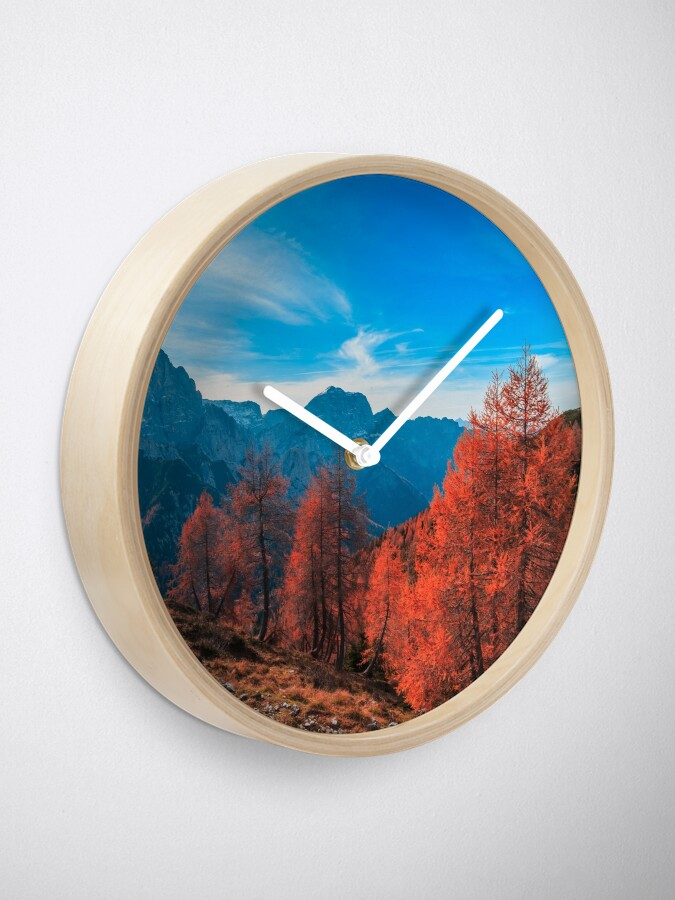 Alternate view of Cloudy autumn day in the italian alps Clock