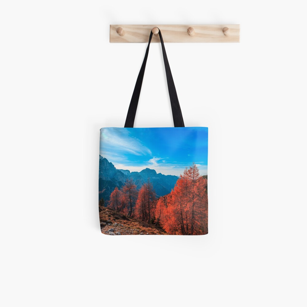 Cloudy autumn day in the italian alps Tote Bag