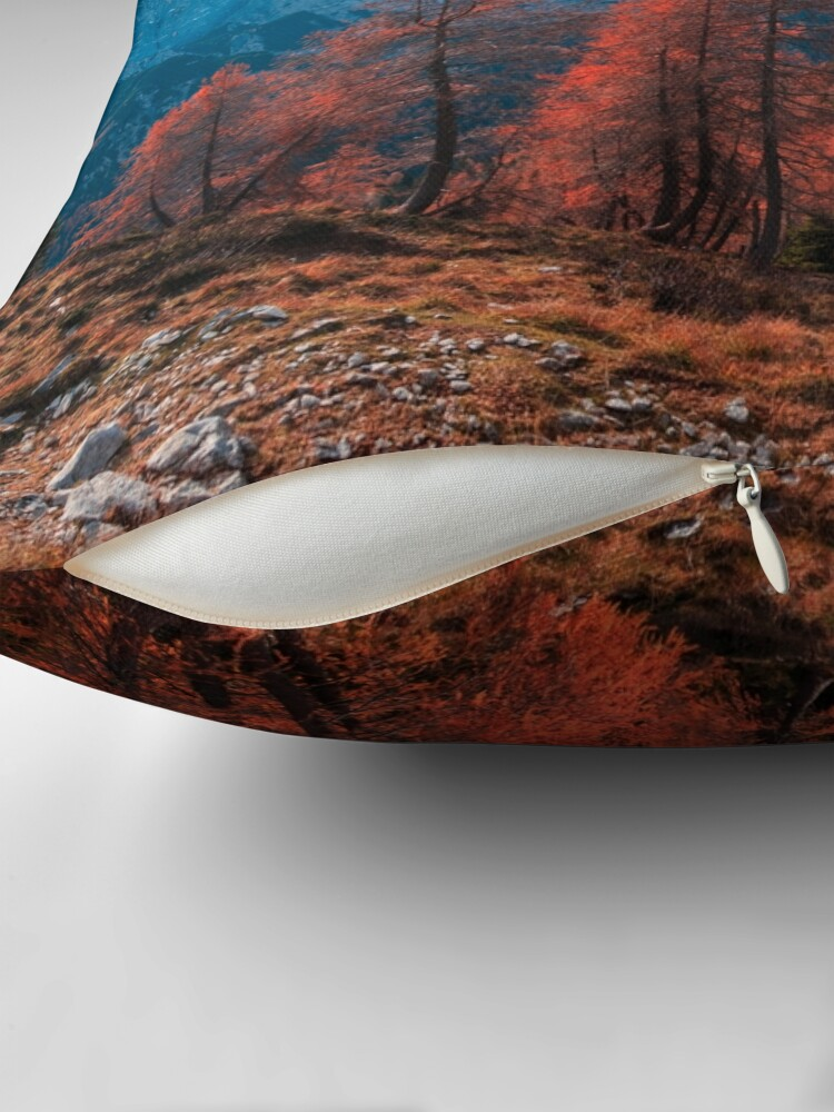 Alternate view of Cloudy autumn day in the italian alps Throw Pillow