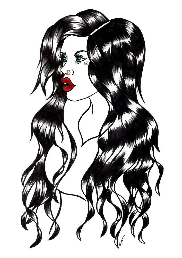 Blackwater girl - Blue eyes by creaturesofnat