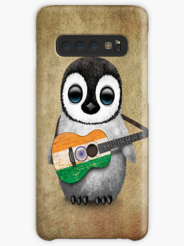 'Baby Penguin Playing Indian Flag Guitar' Case/Skin for Samsung Galaxy by  jeff bartels