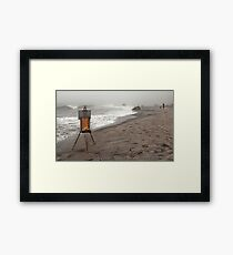 Rusty Easel Framed Print