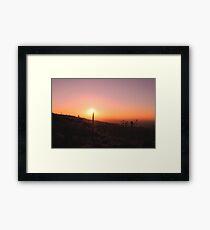 10-10-10 Sunset Framed Print