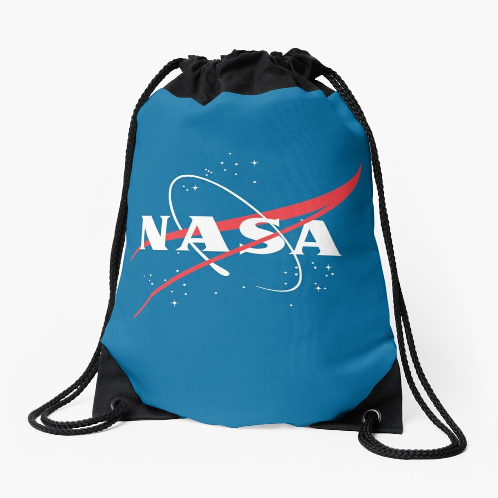 NASA Logo No Background Drawstring Bag