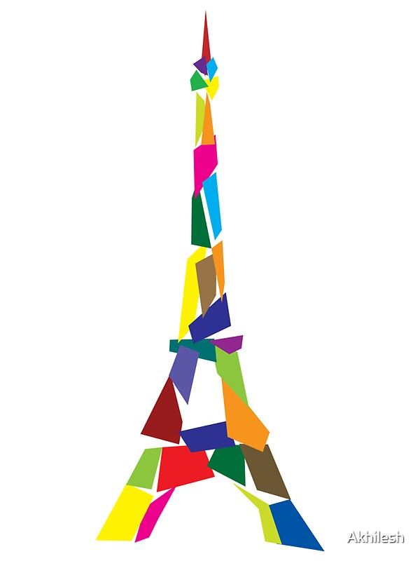 Quot Eiffel Tower Abstract Paris France Quot Stickers By