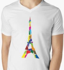 Eiffel tower abstract - Paris, France Mens V-Neck T-Shirt