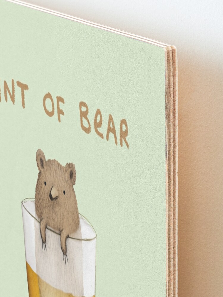 Alternate view of Pint of Bear Mounted Print
