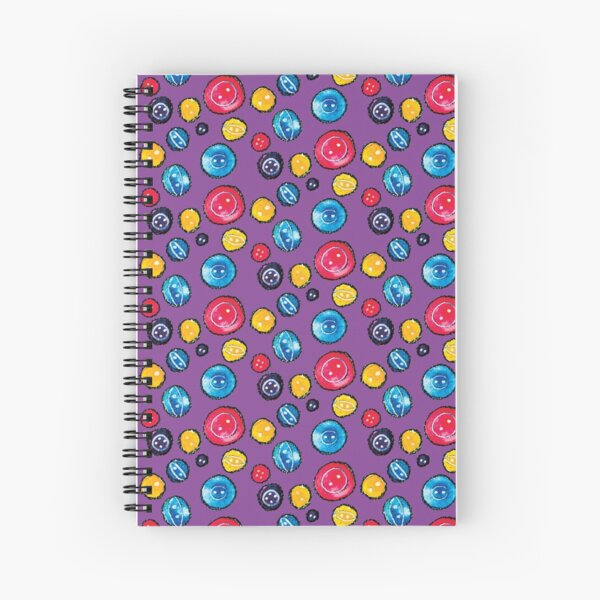 Circle Buttons Sewing Bright Pattern Spiral Notebook