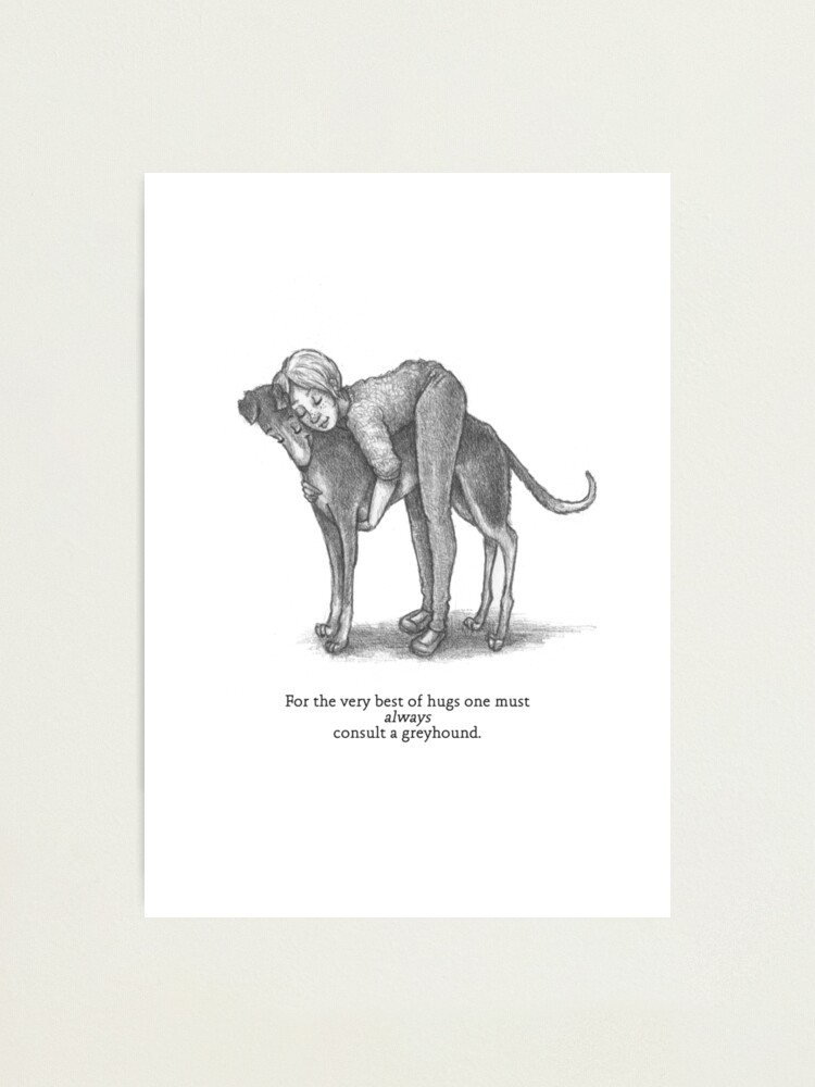 Alternate view of Consult A Greyhound Photographic Print