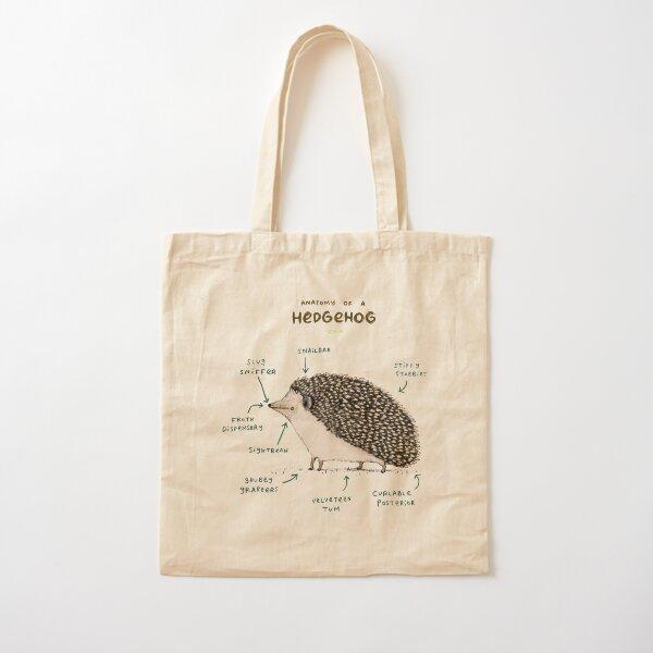 Anatomy of a Hedgehog Cotton Tote Bag