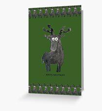 Moosy Christmas Greeting Card