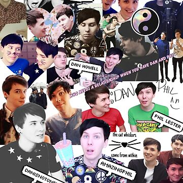 Danisnotonfire and AmazingPhil Collage by pastelkitten