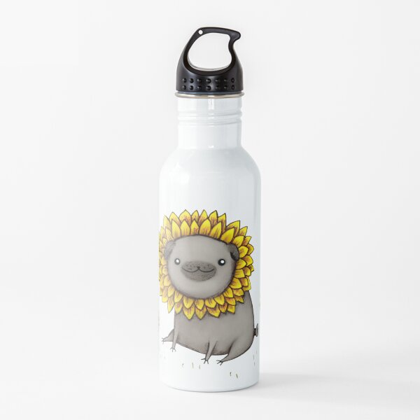 Pugflower Water Bottle