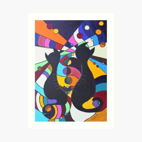Zip-Kätz - frei! Kunstdruck