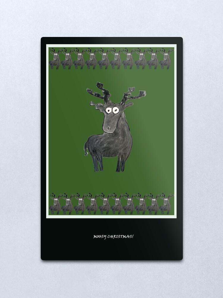 Alternate view of Mossy Christmas II Metal Print