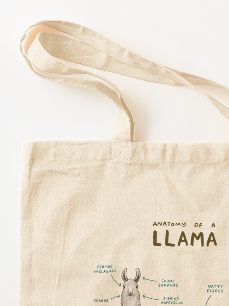 Alternate view of Anatomy of a Llama Tote Bag