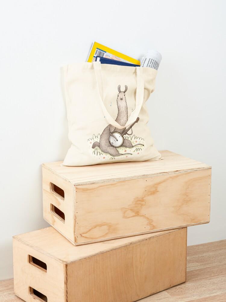 Alternate view of Banjo Llama Tote Bag