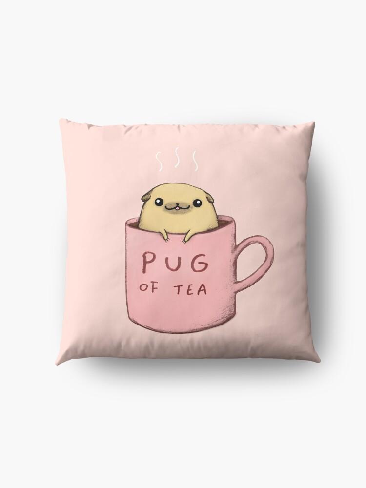 Alternate view of Pug of Tea Floor Pillow