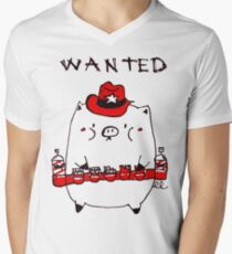 Cowboy Bacon V-Neck T-Shirt
