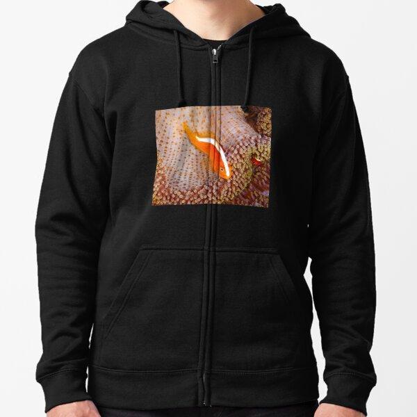Orange Anemonefish, Indonesia Zipped Hoodie