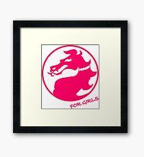 Mortal Kombat for Girls Framed Print