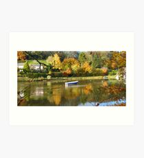 Cornwall: Autumn Colours on the River Lerryn Art Print