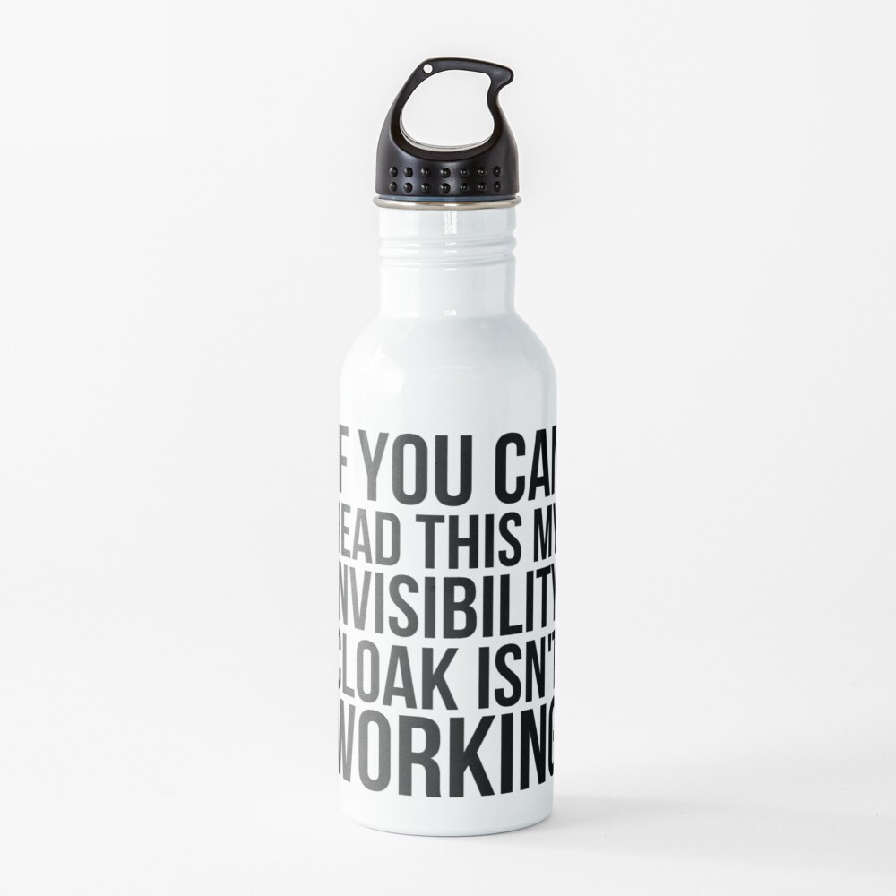 Can you read this? Water Bottle