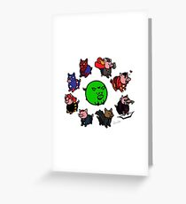 Pig Avengers Greeting Card