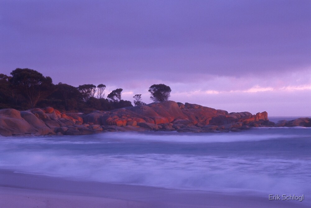 Binalong Bay at dawn by Erik Schlogl