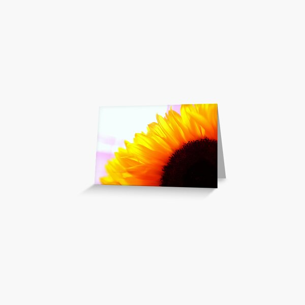 Black, orange, yellow Greeting Card