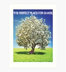 Money Trees is the perfect place for shade Art Print