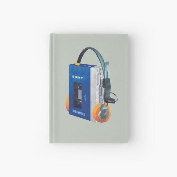 Sony Walkman TPS-L2 with MDR-5A Headphone Polygon Art Hardcover Journal