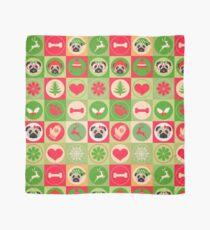 Pañuelo Super Cute Christmas Pug - Green, Red, Background