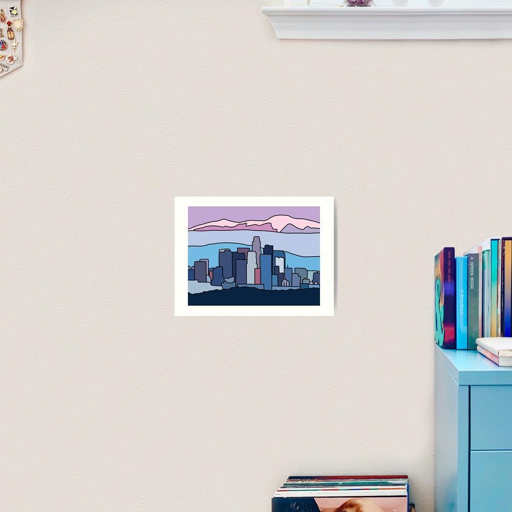 L.A. skyline by Elebea Art Print