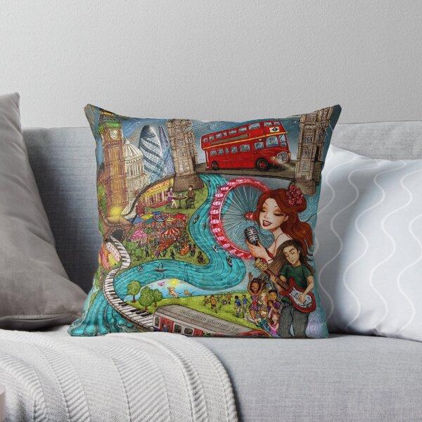 Sounds of London Throw Pillow