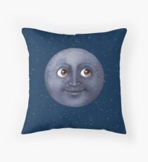 Moon Emoji Throw Pillow