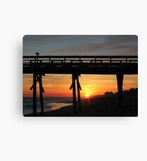 Bogue Inlet Pier at Sunset Canvas Print