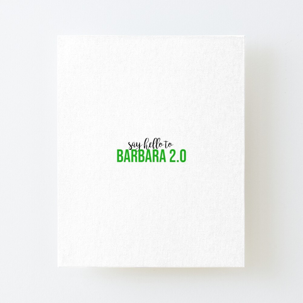 Beetlejuice Barbara 2 0 Art Board Print By Bwayabby Redbubble