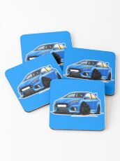 Ford Focus (Mk3) RS Blue Coasters