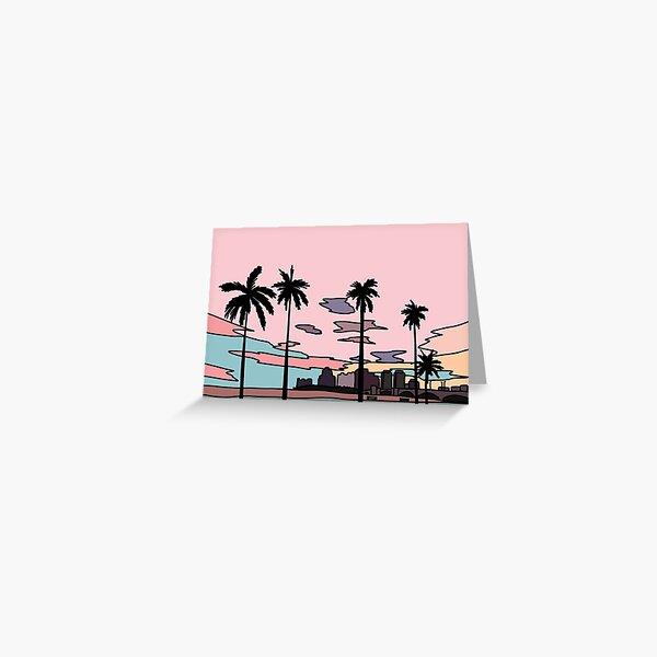 Florida sunset by Elebea Greeting Card