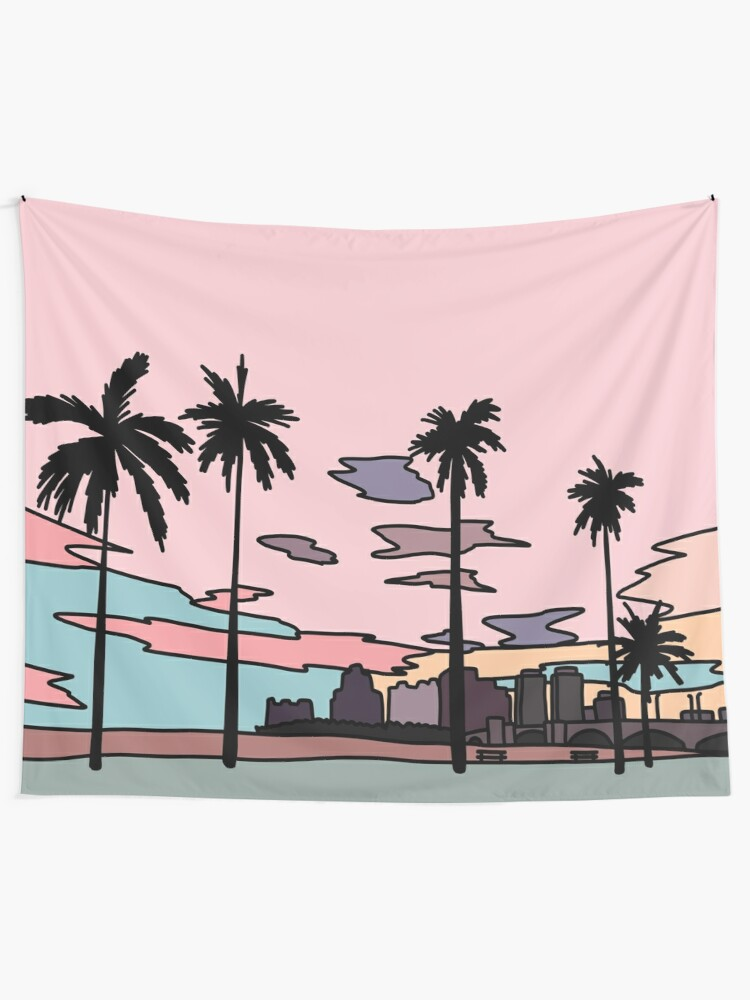 Alternate view of Florida sunset by Elebea Tapestry