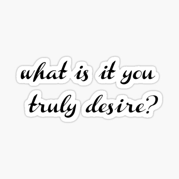 Lucifer - what is it you truly desire? Sticker