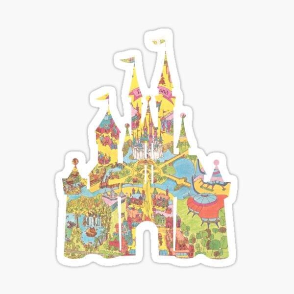 Magic Kingdom Castle Map Sticker