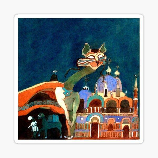 Foxy in Venice Sticker