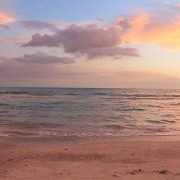 Pastel Beach by sunsetnurveins