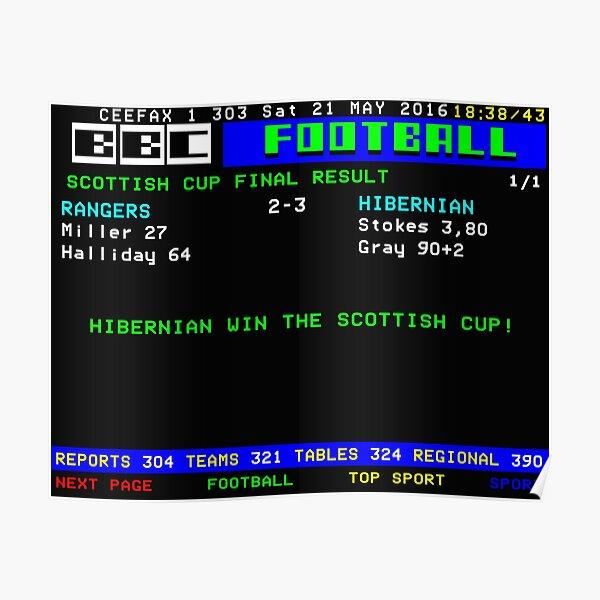 Hibernian Rangers 2016 Scottish Cup Final  Poster
