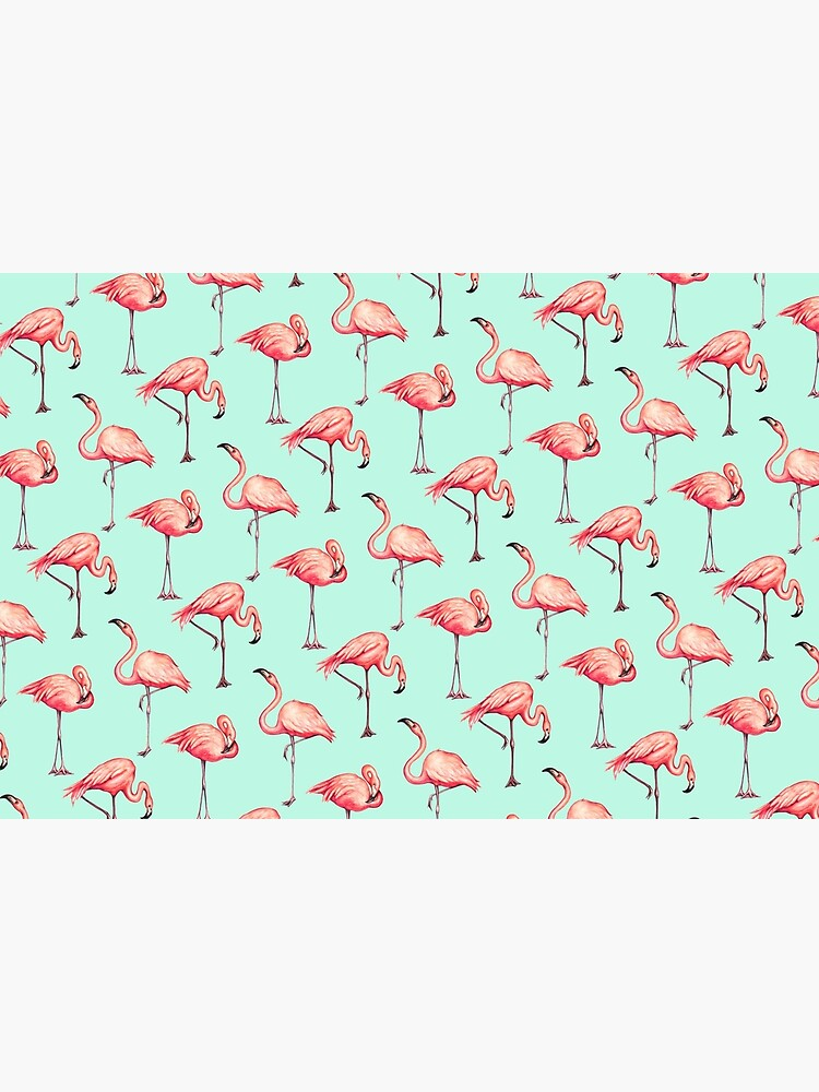Flamingo Pattern - Blue by KellyGilleran