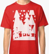 White Christmas Trees Classic T-Shirt